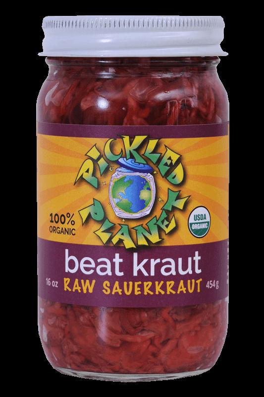 Raw Beet Sauerkraut